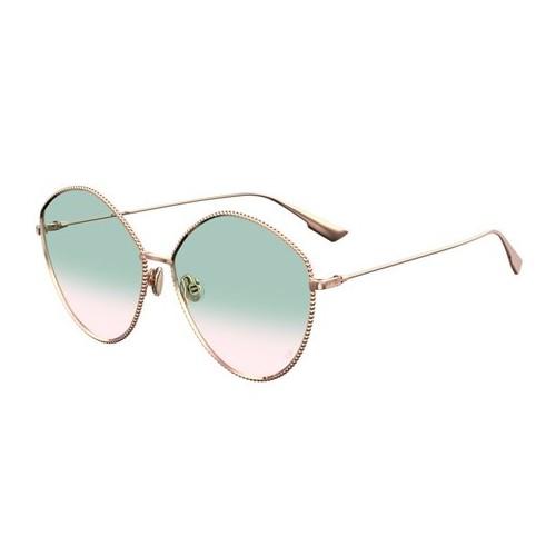 DIOR Okulary przeciwsłoneczne damskie Society4 - złoty, filtr UV 400