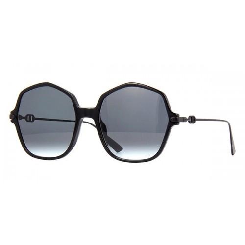 DIOR Okulary przeciwsłoneczne damskie Link 2 - czarny, filtr UV 400