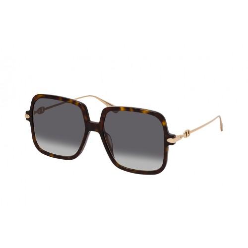 DIOR Okulary przeciwsłoneczne damskie Link 1 - brązowy, filtr UV 400