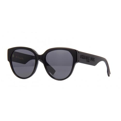DIOR Okulary przeciwsłoneczne damskie ID 2 - brązowy, filtr UV 400