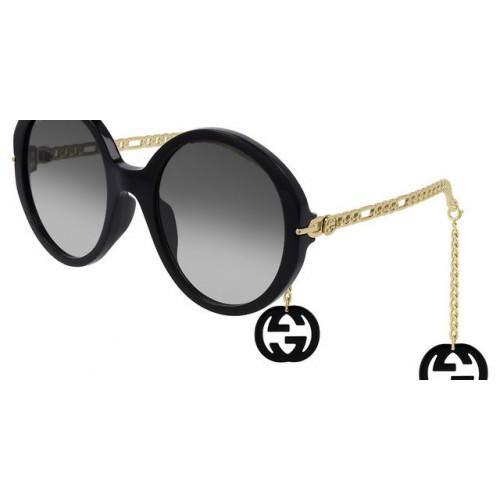 0726SGucci Okulary przeciwsłoneczne damskie Gucci GG0726S 001 - czarny, złoty
