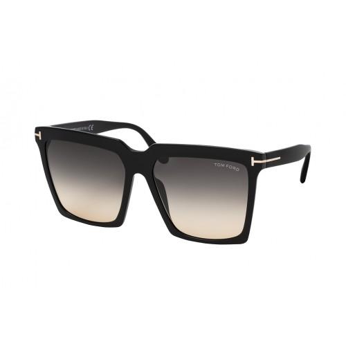 Tom Ford Okulary przeciwsłoneczne damskie Sabrina TF764 01B - czarny, filtr UV 400