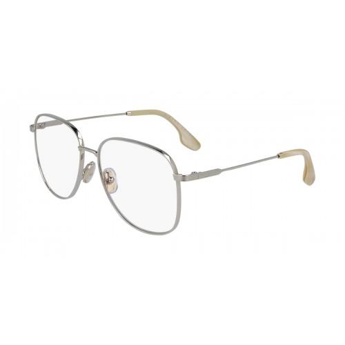 Victoria Beckham Okulary korekcyjne damskie VB219 - srebrny