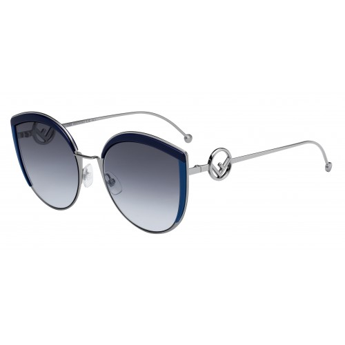 Fendi Okulary przeciwsłoneczne damskie FF0290/S 0PJPGB - srebrny