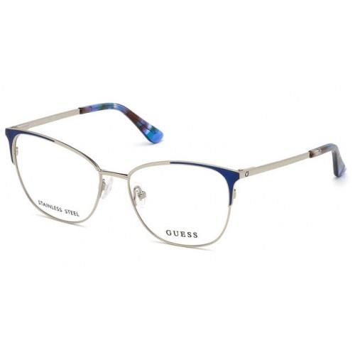 GUESS Oprawa okularowa damska GU2705 - srebrny