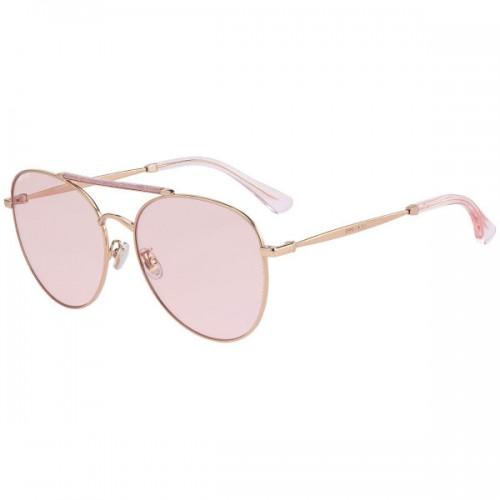 Jimmy Choo Okulary przeciwsłoneczne damskie ABBIE - złoty, różowy, filtr UV 400