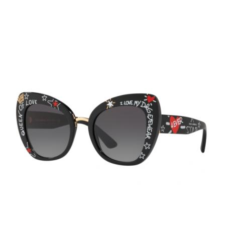 Dolce & Gabbana Okulary przeciwsłoneczne damskie DG 4319 3180/8G - czarny