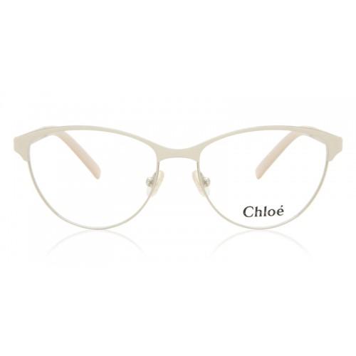 Chloe Oprawa okularowa damska CE2121 745 - beżowy, srebrny