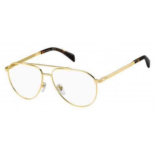 David Beckham Oprawa okularowa męska DB7023 J5G  - złoty