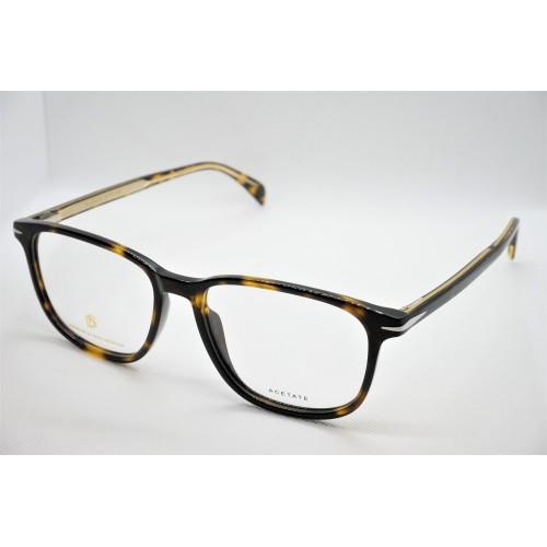 David Beckham Oprawa okularowa męska DB1017 086  - brązowy