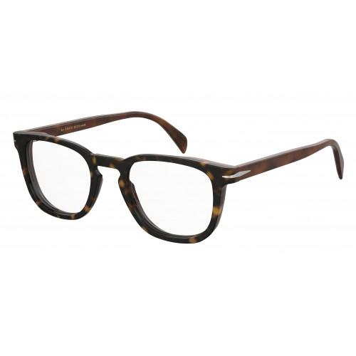 David Beckham Oprawa okularowa męska DB7022 WR7  - czarny, brązowy