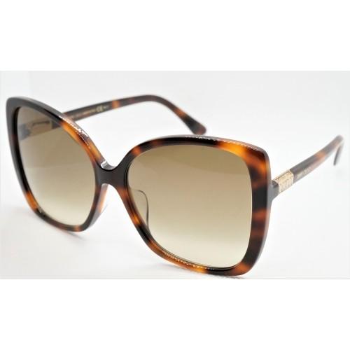Jimmy Choo Okulary przeciwsłoneczne damskie BECK/F/S 086HA - szylkret, filtr UV 400