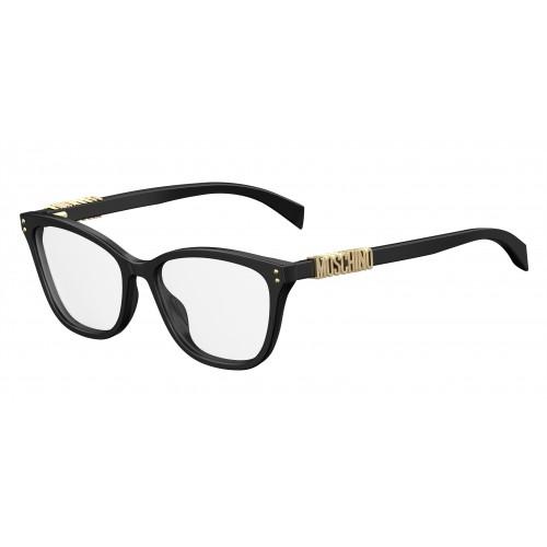 MOSCHINO Oprawa okularowa damska MOS500 807 - czarny