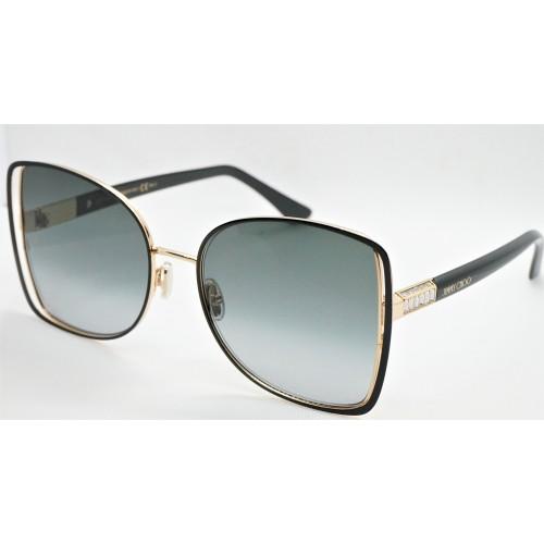 Jimmy Choo Okulary przeciwsłoneczne damskie FRIEDA/S 2M29O - czarny, złoty, filtr UV 400