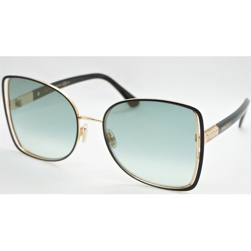 Jimmy Choo Okulary przeciwsłoneczne damskie FRIEDA/S XWYEZ - czarny, złoty, filtr UV 400