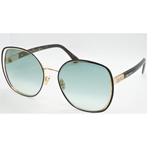 Jimmy Choo Okulary przeciwsłoneczne damskie DODIE/S XWYEZ - czarny, złoty, filtr UV 400