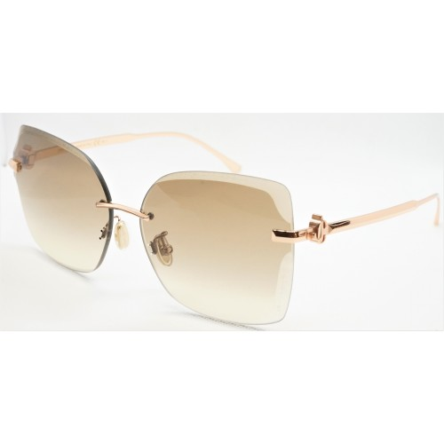 Jimmy Choo Okulary przeciwsłoneczne damskie CORIN/G/S DDBHA- złoty, filtr UV 400