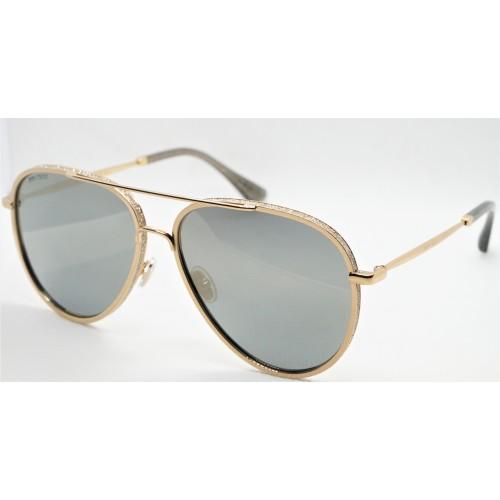 Jimmy Choo Okulary przeciwsłoneczne damskie TRINY/S J5GJO - złoty, filtr UV 400