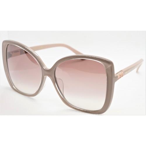 Jimmy Choo Okulary przeciwsłoneczne damskie BECK/F/S FWMNQ - beżowy, filtr UV 400
