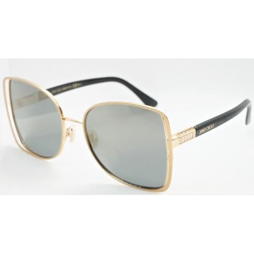 Jimmy Choo Okulary przeciwsłoneczne damskie FRIEDA/S J5GJO - czarny, złoty, filtr UV 400