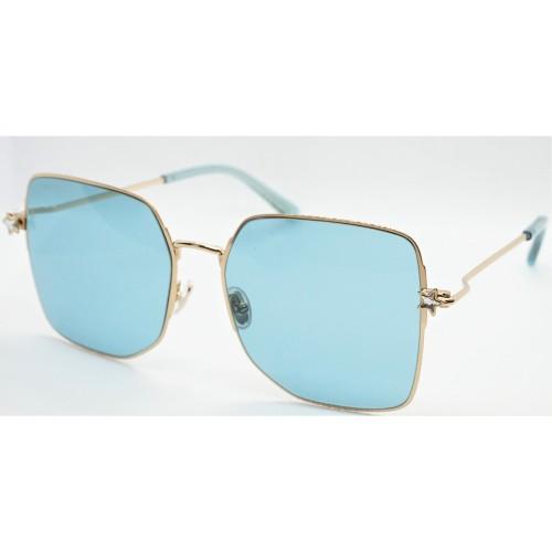 Jimmy Choo Okulary przeciwsłoneczne damskie TRISHA/G/SK J5GKU- złoty, niebieski, filtr UV 400