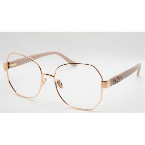 Jimmy Choo Oprawa okularowa damska JC253/F BKU - różowy, beżowy