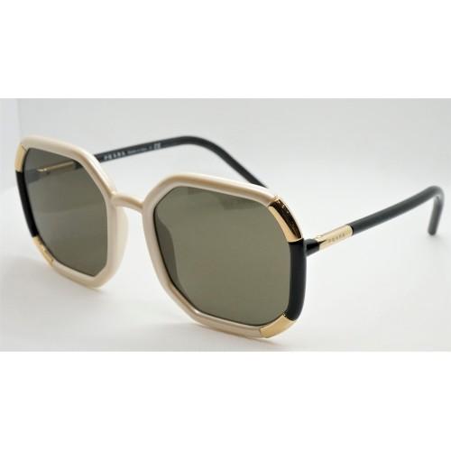 Prada Okulary przeciwsłoneczne damskie SPR20X 01F-5G1 - czarny, perłowy, złoty, filtr UV 400