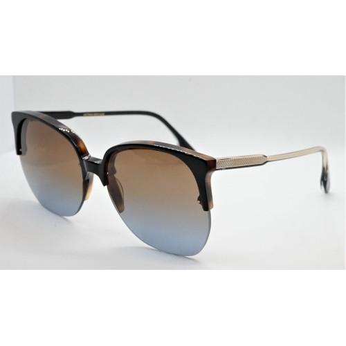 Victoria Beckham Okulary przeciwsłoneczne damskie VB617S - czarny, brązowy, filtr UV 400