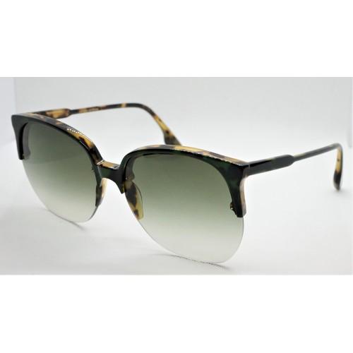 Victoria Beckham Okulary przeciwsłoneczne damskie VB617S - zielony, brązowy, filtr UV 400