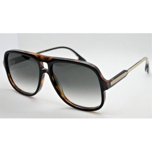 Victoria Beckham Okulary przeciwsłoneczne damskie VB620S - czarny, brązowy, filtr UV 400