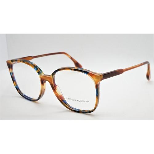 Victoria Beckham Oprawa okularowa damska VB2615  - brązowy, niebieski