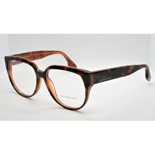 Victoria Beckham Oprawa okularowa damska VB2617 - brązowy
