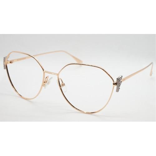 Fendi Oprawa okularowa damska FF0389G DDB - złoty, różowy