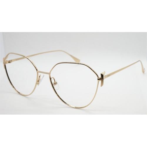 Fendi Oprawa okularowa damska FF0389G J5G - złoty
