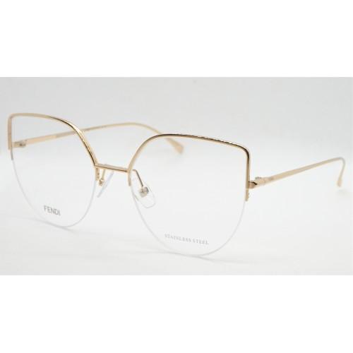Fendi Oprawa okularowa damska FF0423 000 - złoty