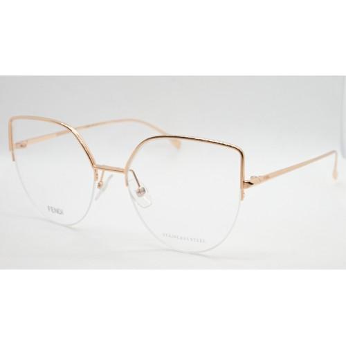 Fendi Oprawa okularowa damska FF0423 DDB - złoty, różowy