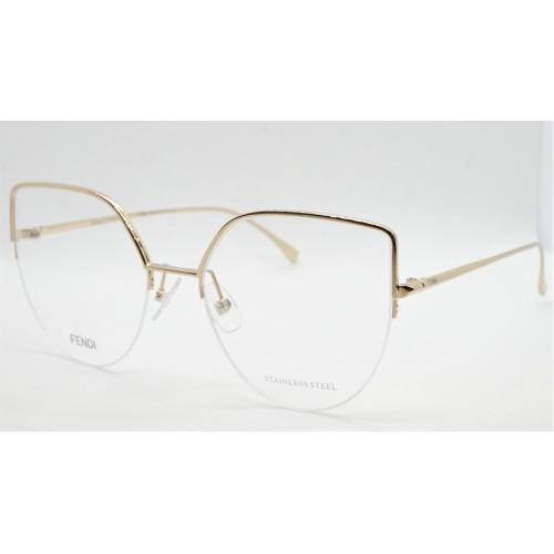 Fendi Oprawa okularowa damska FF0423 J5G - złoty