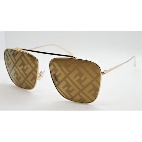 Fendi Okulary przeciwsłoneczne damskie FF0406S 01Q - złoty, filtr UV 400