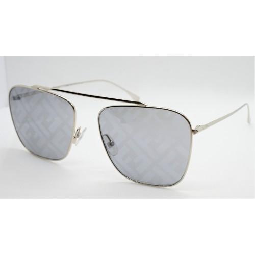 Fendi Okulary przeciwsłoneczne damskie FF0406S 2F7MD - srebrny, filtr UV 400