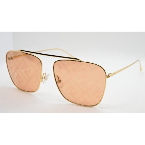 Fendi Okulary przeciwsłoneczne damskie FF0406S J5G0M - srebrny, filtr UV 400