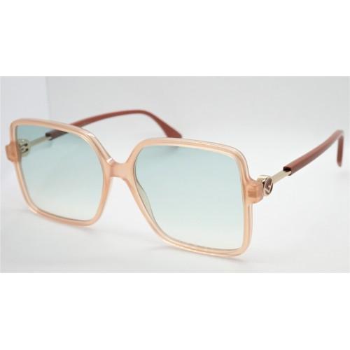 Fendi Okulary przeciwsłoneczne damskie FF0411S 2LF - brzoskwiniowy, filtr UV 400