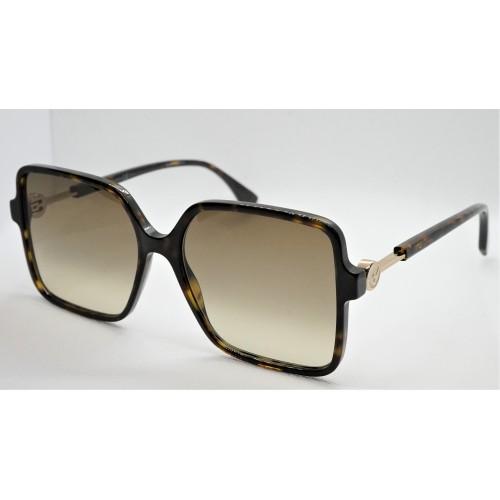 Fendi Okulary przeciwsłoneczne damskie FF0411S 086 - brązowy, filtr UV 400