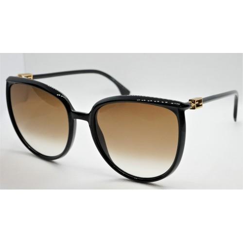 Fendi Okulary przeciwsłoneczne damskie FF0432GS 086 - czarny, filtr UV 400