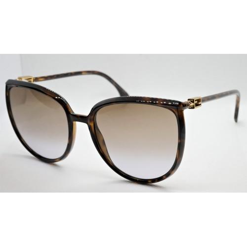 Fendi Okulary przeciwsłoneczne damskie FF0432GS 807 - brązowy, filtr UV 400