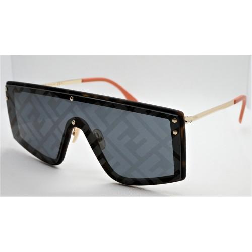 Fendi Okulary przeciwsłoneczne damskie FF M0076GS 086 - czarny, filtr UV 400