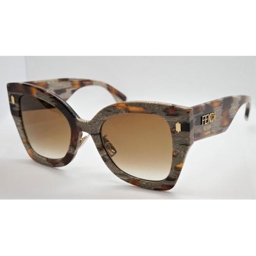 Fendi Okulary przeciwsłoneczne damskie FF0434GS VTHHA - szylkret, filtr UV 400