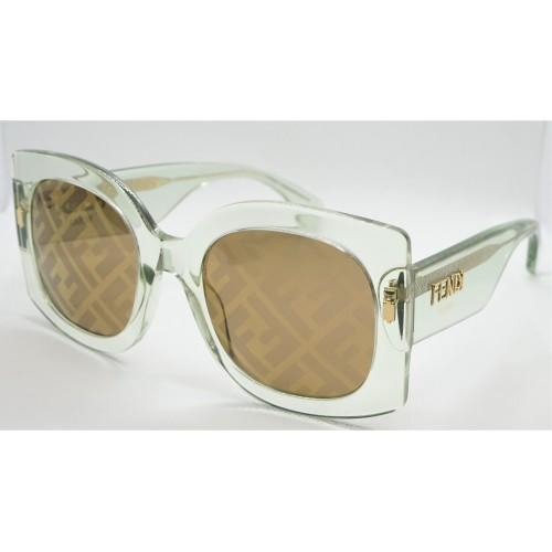 Fendi Okulary przeciwsłoneczne damskie FF0436GS 1ED - miętowy, filtr UV 400