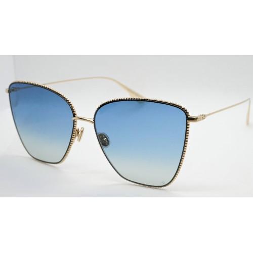 DIOR Okulary przeciwsłoneczne damskie Society1 J5G Gold- złoty, niebieski, filtr UV 400
