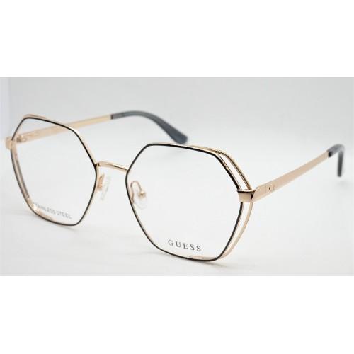 GUESS Oprawa okularowa damska GU2792 032 - złoty, czarny