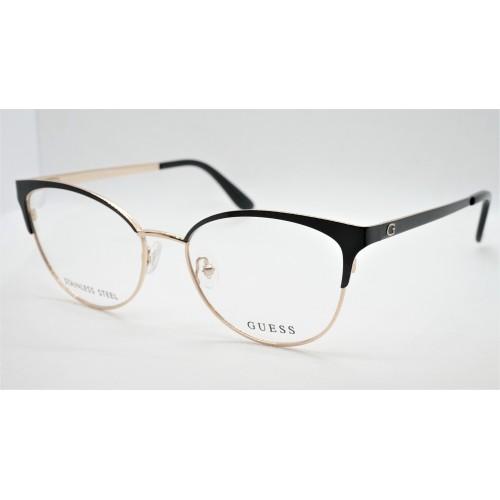 GUESS Oprawa okularowa damska GU2796 001 - złoty, czarny